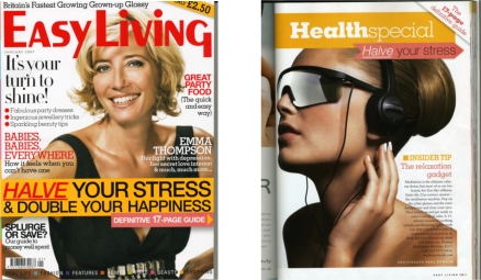 Easl Living Magazine Review of Meditation Mind Machines